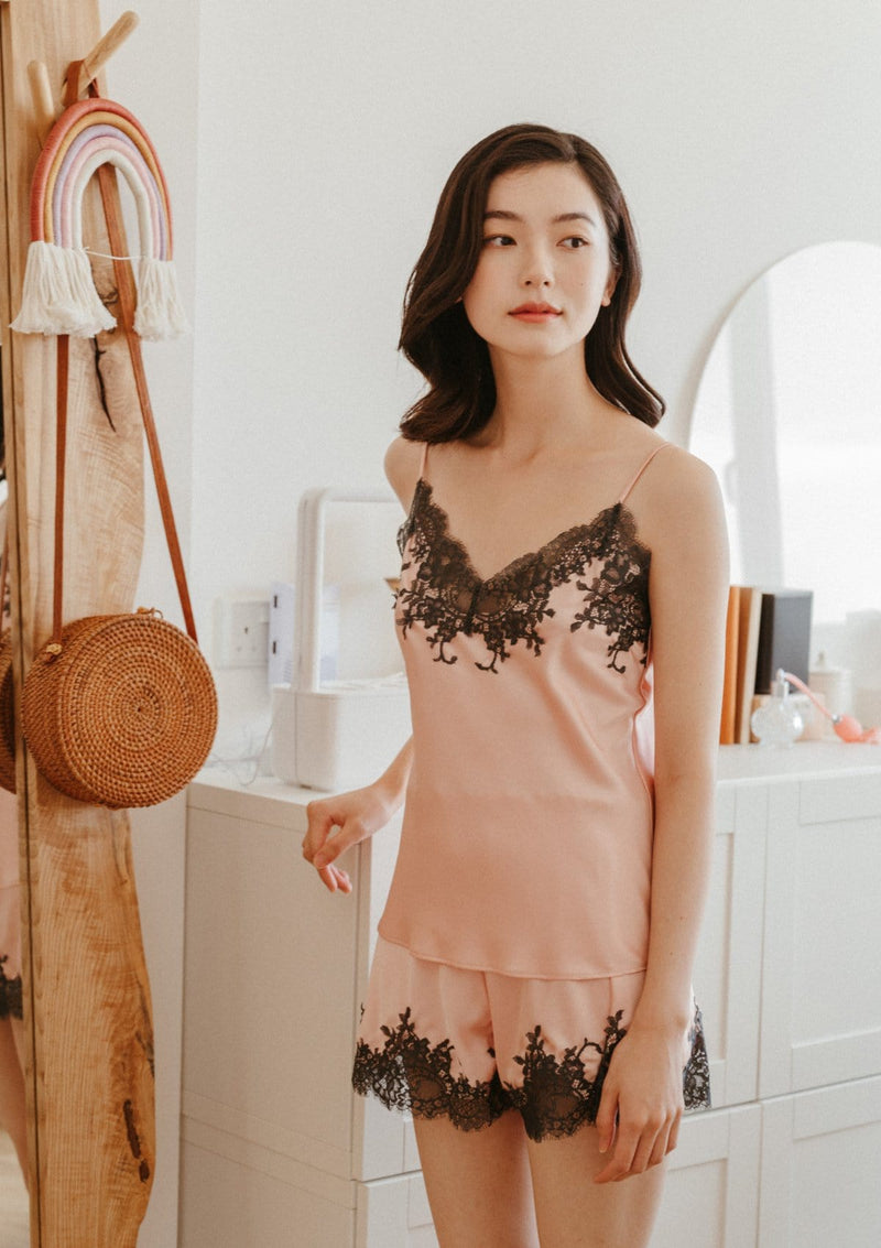 Silk Camisole Set Blush