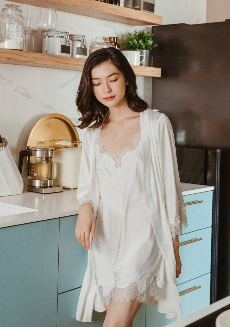 Silk Robe White