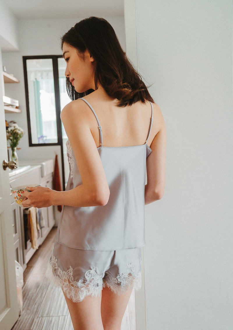 Silk Camisole Set Grey