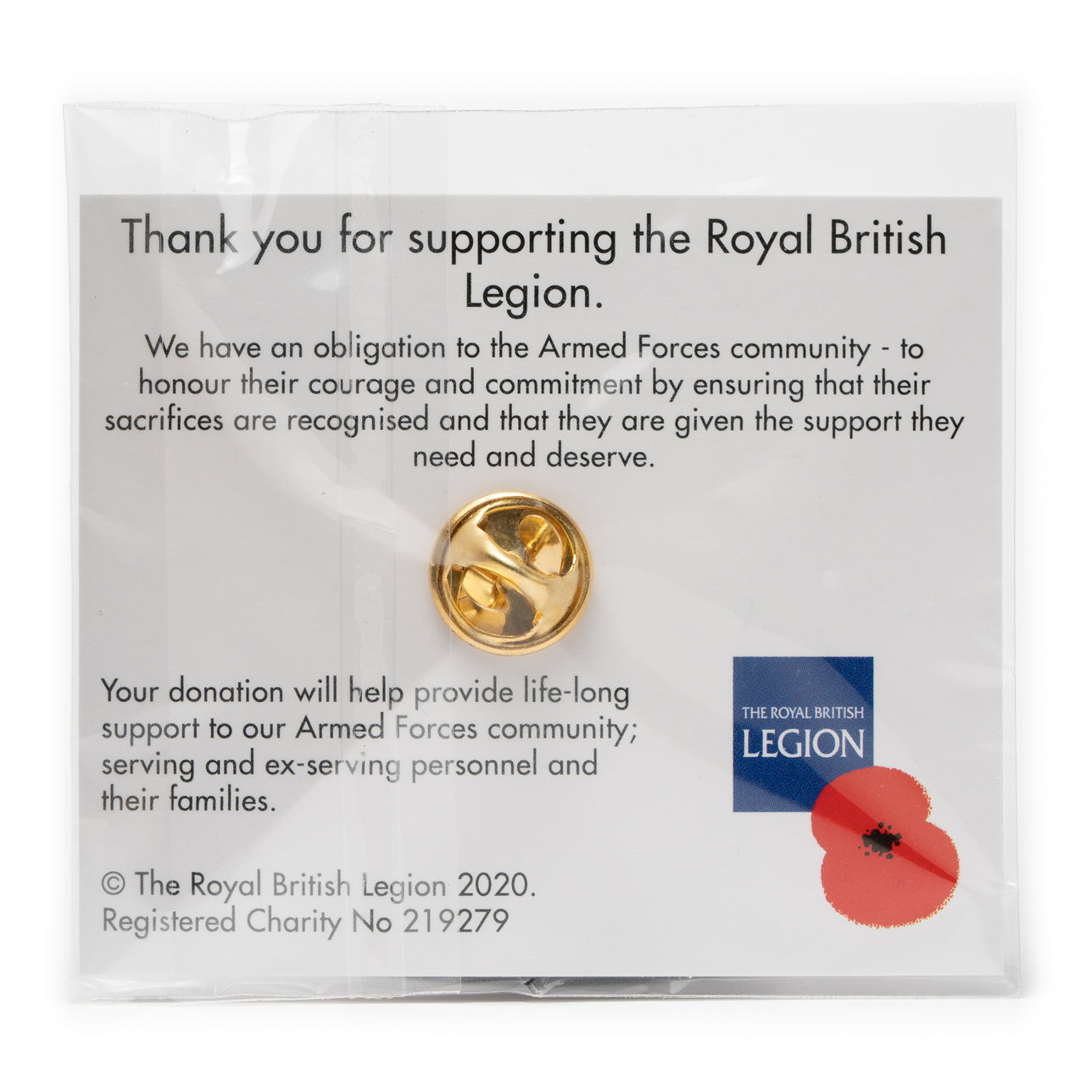 Bristol Rovers Poppy Pin Badge