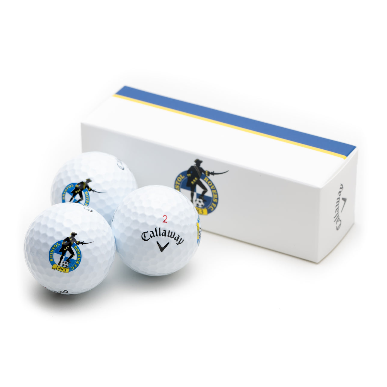 Bristol Rovers 3 Pack of Chrome Soft Golf Balls