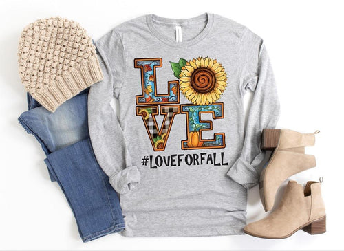 Sunflower Love Fall Tee