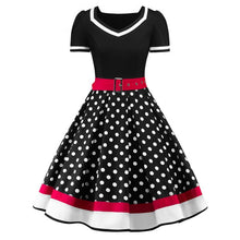 Load image into Gallery viewer, Polka Dot Print Vintage Dress