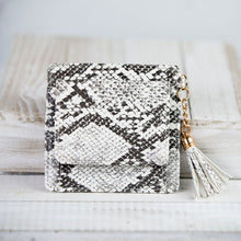 Load image into Gallery viewer, Faux Leather Snake Print Coin Zip Pouch