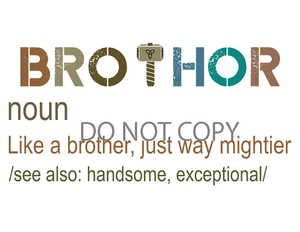 Brothor Sublimation Print