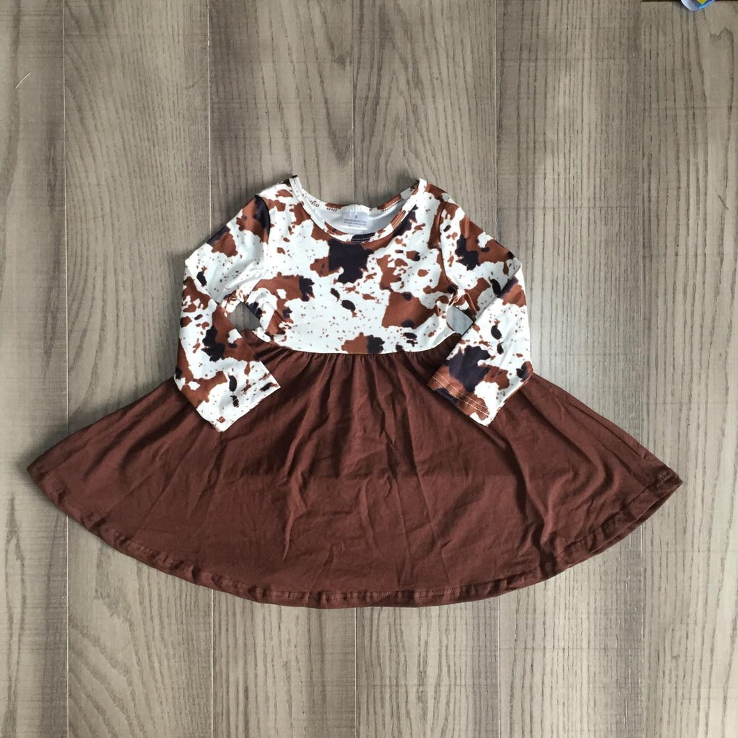 Brown Cowhide Sweetheart Dress