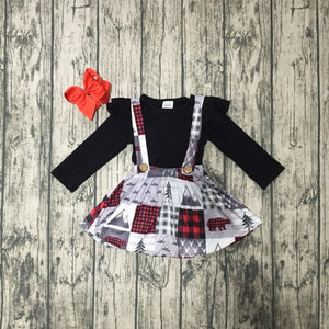 Buffalo Plaid Winter Patchwork Shirt and Jumper Outfit