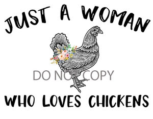 Loves Chickens Sublimation Print