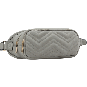 chevron gray fanny pack