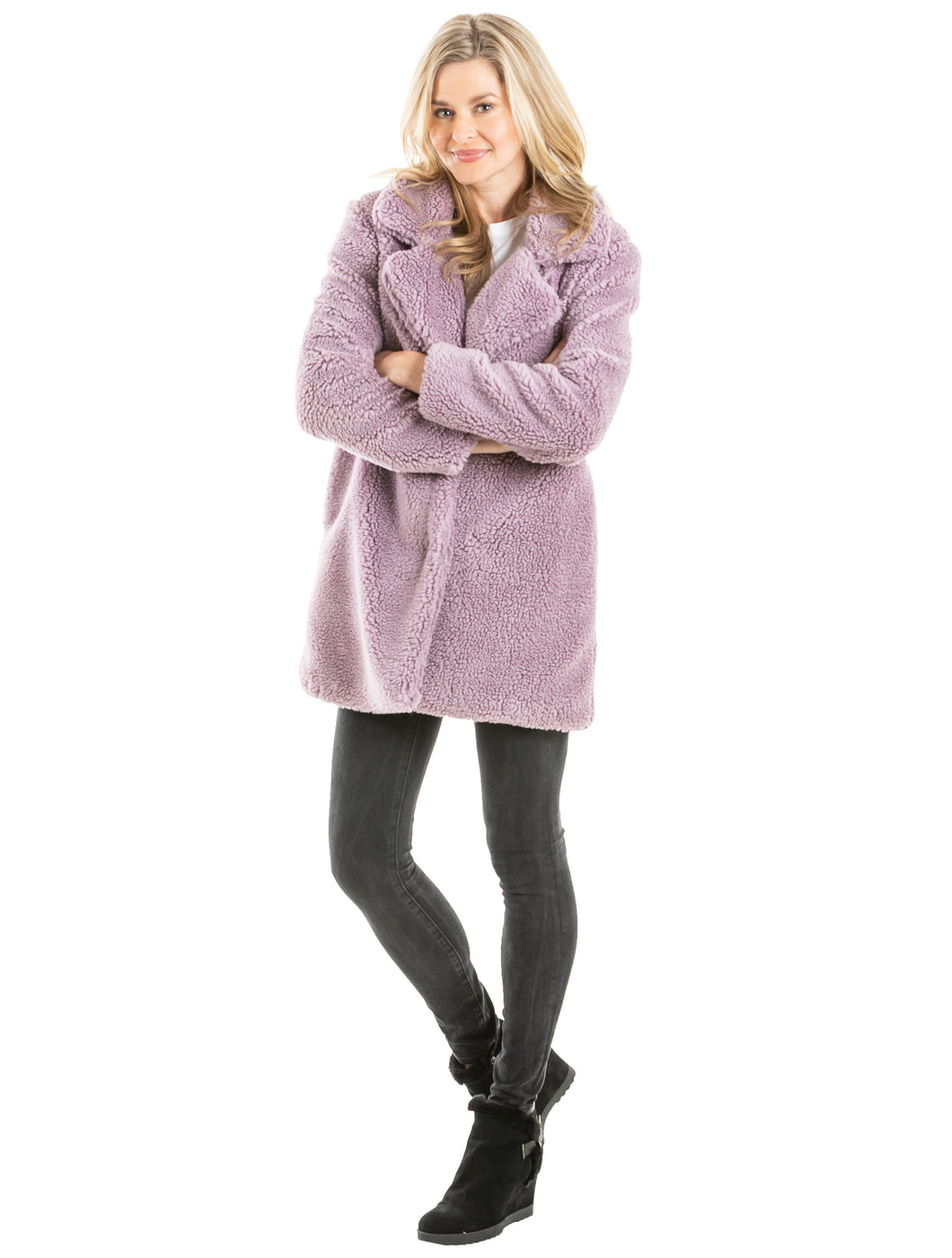 Teddy Sherpa Coat w/ Pockets