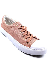 Morgan Tennis Shoes- ROSE GOLD