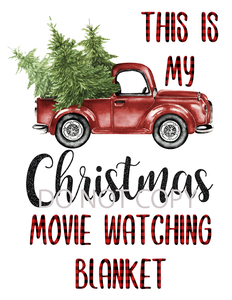 Christmas Movie Blanket Sublimation Print