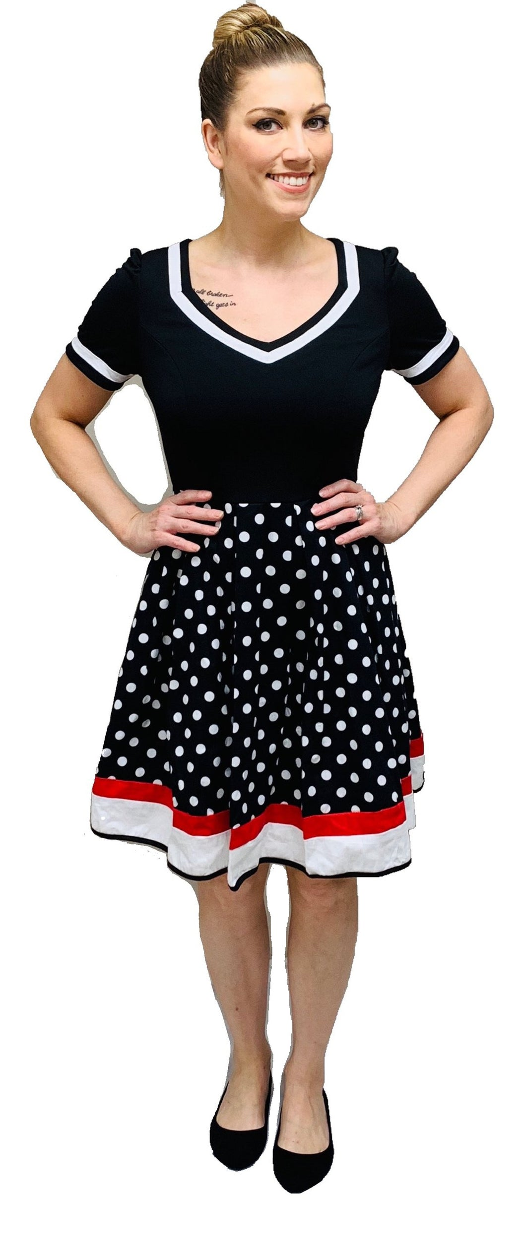 Polka Dot Print Vintage Dress