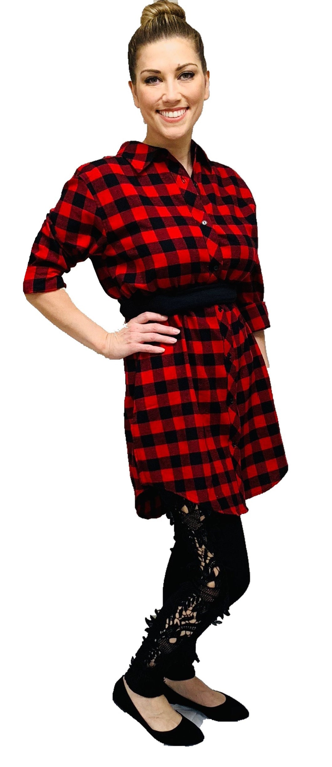 Over-sized Plaid Dress/Shirt