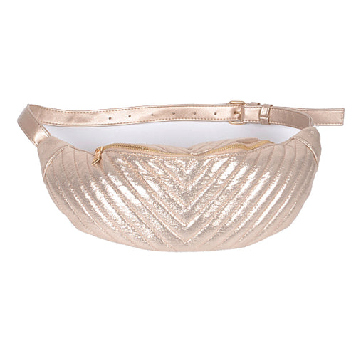 Shiny Gold Chevron Design Fanny Pack