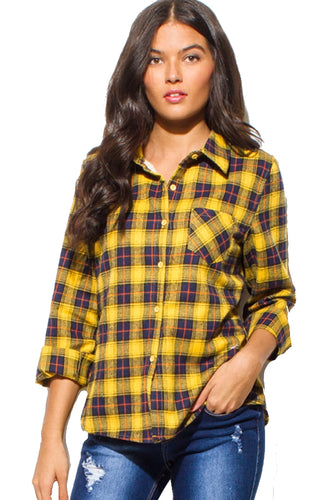 Fleece Flannel Top