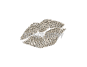 Leopard Lips Sublimation Print
