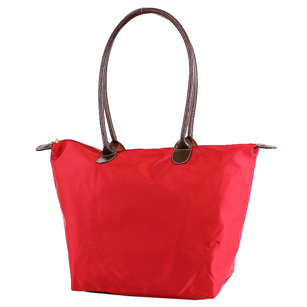 Red 16 inch nylon tote bag