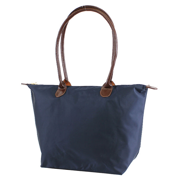 Navy 16 inch nylon tote bag