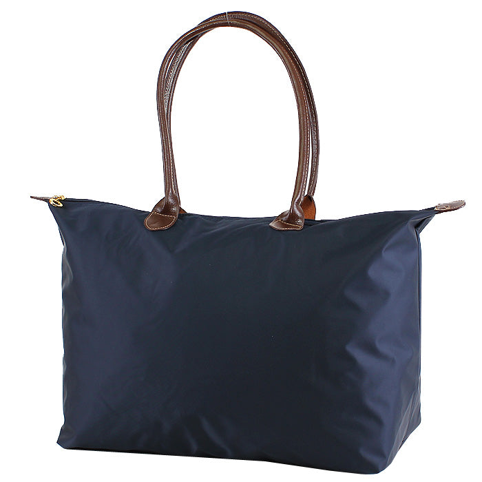 Navy 21 inch nylon tote bag