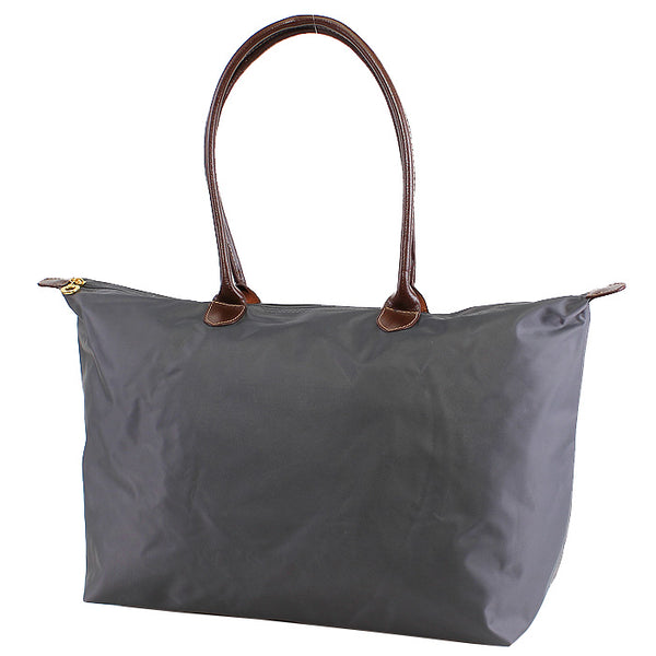 Grey 16 inch nylon tote bag