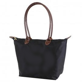 Black 16 inch nylon tote bag