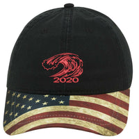 Red Wave Hat - Flag