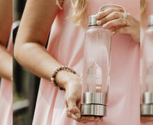 Load image into Gallery viewer, Clear Rose Quartz Bottle