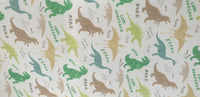 Polycotton fabric dinosaur design for craft ,dresses,children