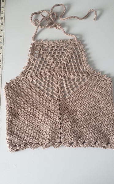 Halterneck  top handcrochet.Handcrochet  top summer top