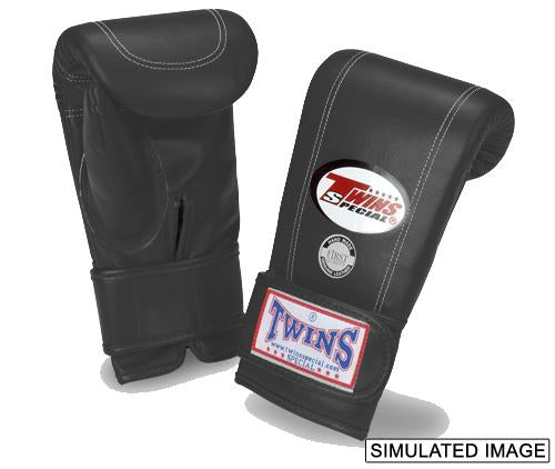 Twins Velcro Wrist Bag Gloves Full Thumb - Black