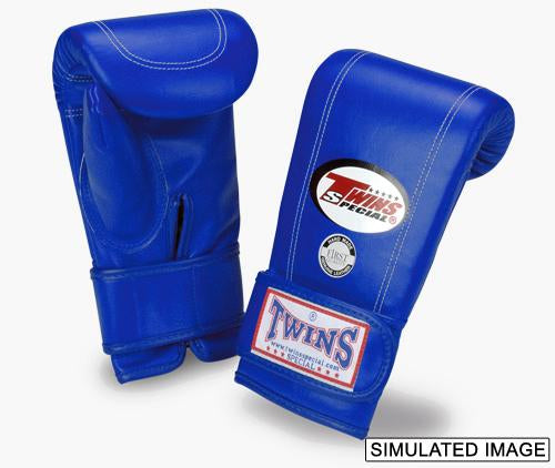 Twins Velcro Wrist Bag Gloves Full Thumb - Blue