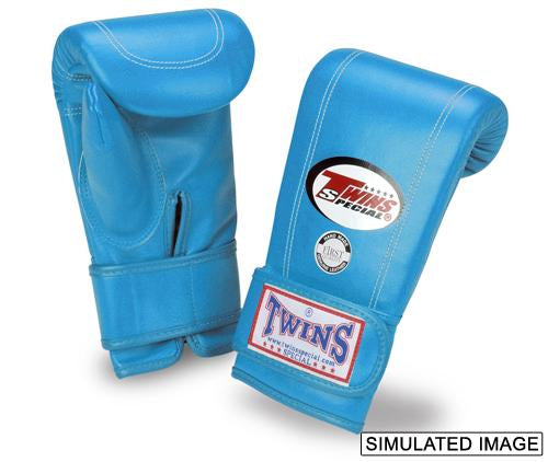 Twins Velcro Wrist Bag Gloves Full Thumb - LtBlue