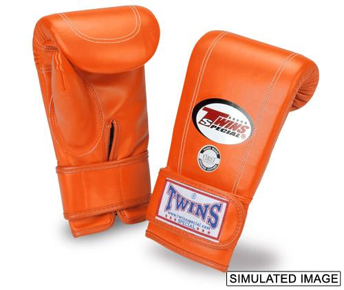 Twins Velcro Wrist Bag Gloves Full Thumb - Orange