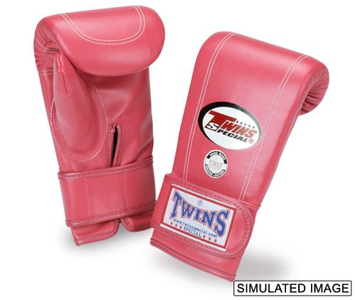 Twins Velcro Wrist Bag Gloves Full Thumb - Pink