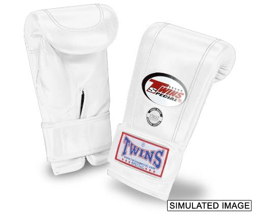 Twins Velcro Wrist Bag Gloves Full Thumb - White