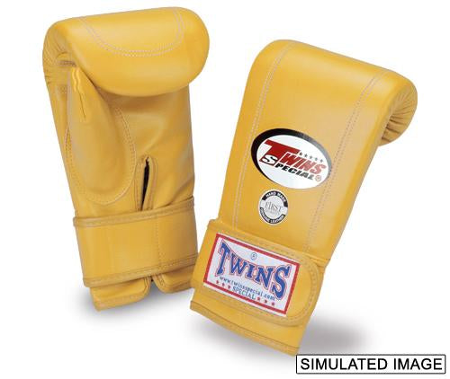 Twins Velcro Wrist Bag Gloves Full Thumb - Yellow