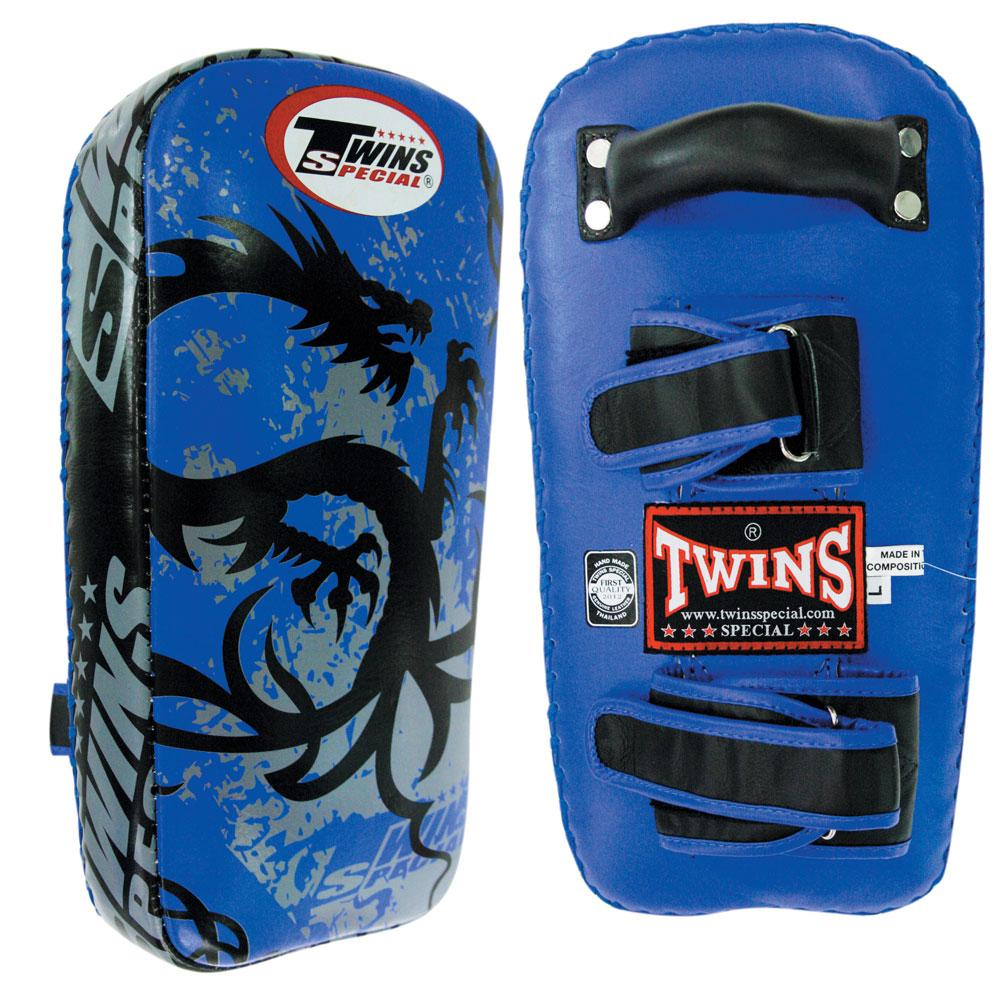 Twins Special Tribal Dragon Muay Thai Pads w/ Velcro- Blue
