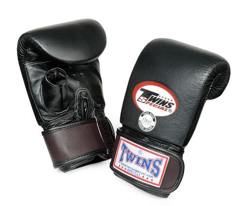 Twins Training Bag Gloves Open Thumb - Black