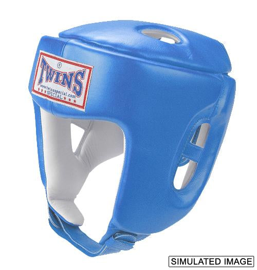 Twins Head Gear- Premium Leather Padded Top - Light Blue