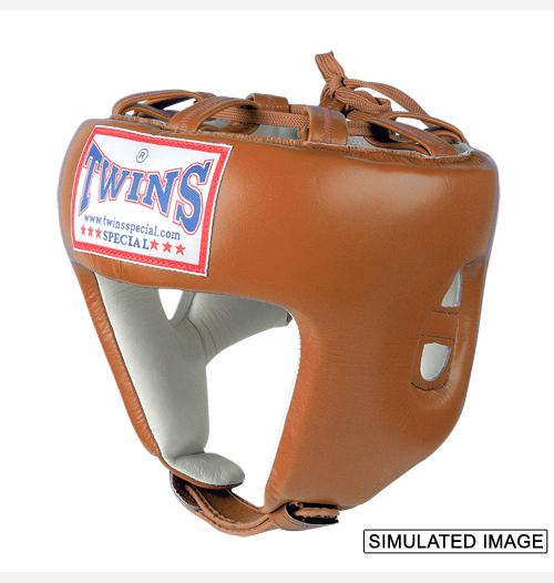 Twins Pro Head Gear- Premium Leather - Brown