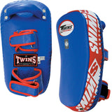 Twins Special Curved Thai Pads w/ Velcro- Blue-Red