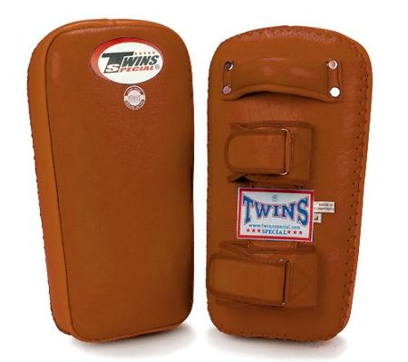 Twins Muay Thai Pads w/ Velcro - Brown