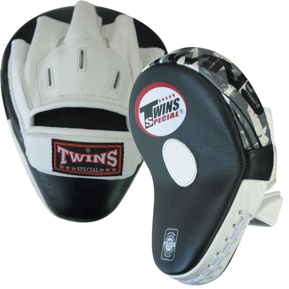 Twins Curved Focus Mitts-White