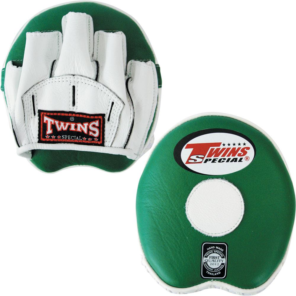 Twins Curved Speed Mitts- White-Green