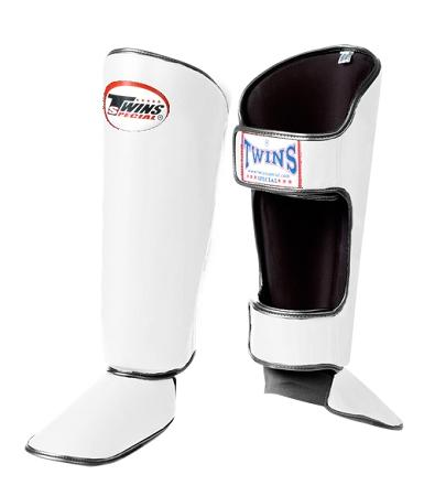 Twins Classic Shin Guards- Pro Synthetic - White