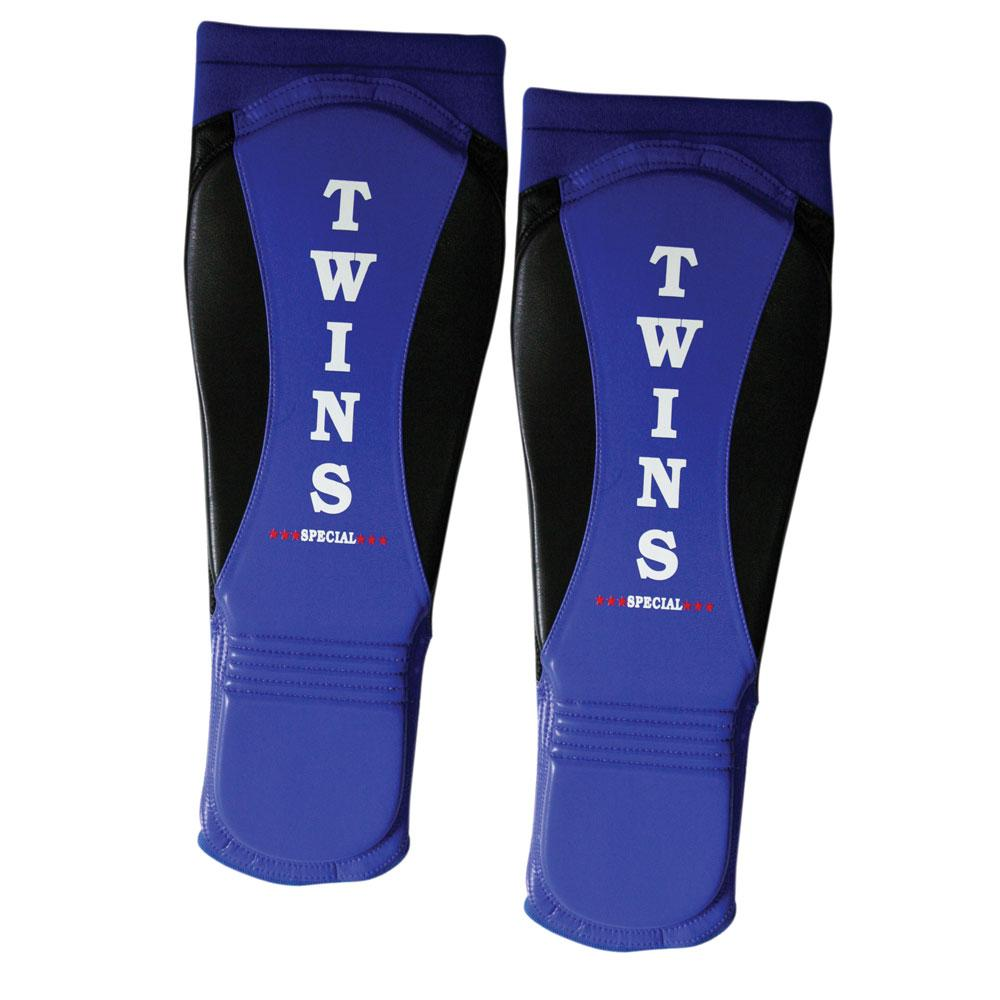 Twins Special MMA Shin Guards- Premium Leather- Blue Black