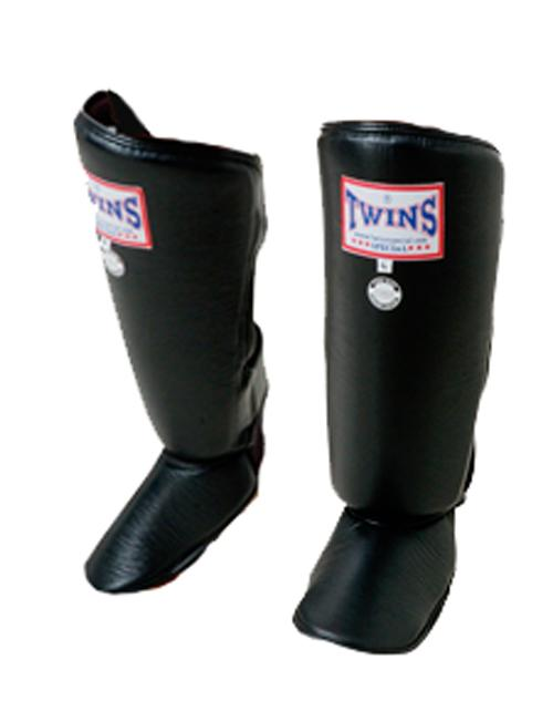 Twins Classic Shin Guards- Pro Synthetic - Black