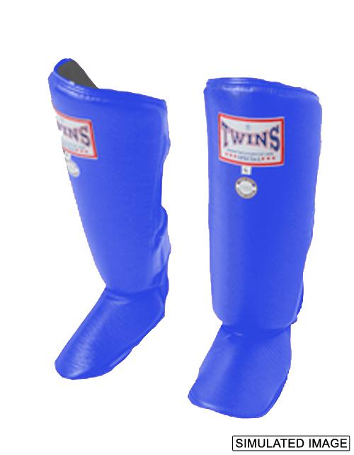 Twins Classic Shin Guards- Pro Synthetic - Blue