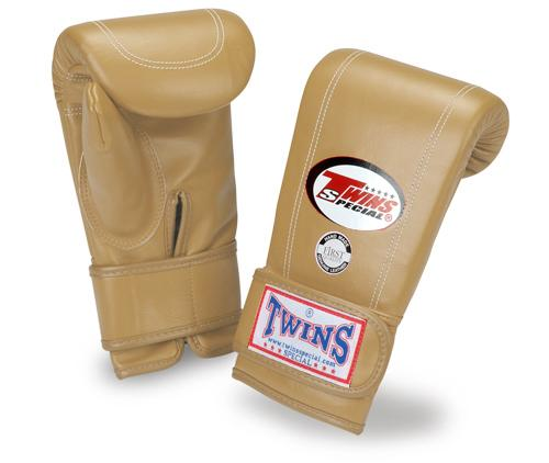 Twins Velcro Wrist Bag Gloves Full Thumb - Gold